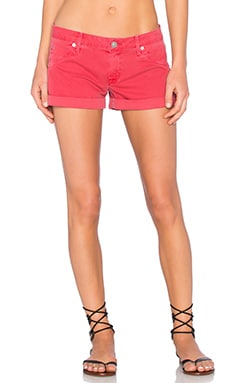 Hudson Jeans Hampton Cuff Short in Red Stone