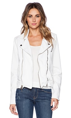 Hudson Jeans Cynic Moto Jacket in White 2