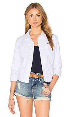 Hudson Jeans Signature Denim Jacket in White 2