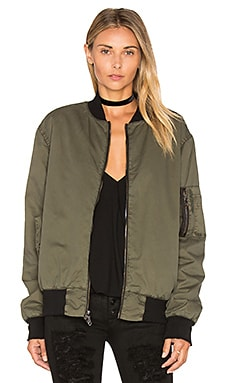 Gene Bomber Jacket in Trooper Green
