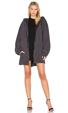 Oversized Zip Up Hoodie Dress