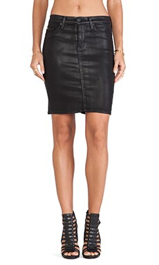 Hudson Jeans Mattie Pencil Skirt in Black Wax