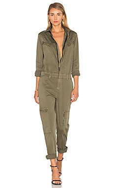 Wesley Utility Jumpsuit in Trooper Green