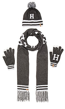 Huf Collegiate H Gift Set in Charcoal