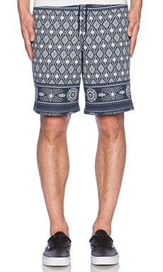 Huf Bandana Fleece Short in Navy