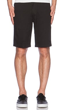 Huf Twill Walk Short in Black