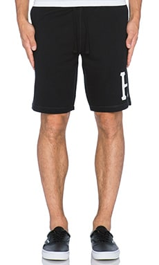 Huf Classic H Fleece Short in Black