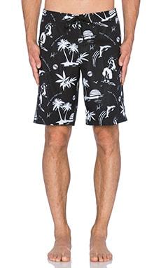 Huf Drunk Aloha Board Short in Black