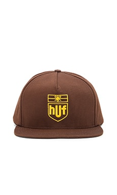 Huf Delivery Snapback in Brown