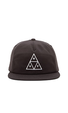 Huf Triple Triangle Snapback in Black