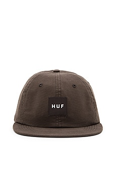 Huf Box Logo 6 Panel in Black