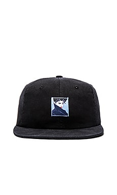 Huf x Nagel 6 Panel Hat in Black
