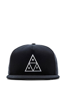 Huf Triple Triangle Snapback in Navy