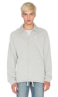 Huf Classic H Fleece Coaches Jacket in Grey Heather