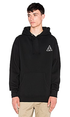 Huf Triple Triangle Hoody in Black