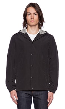 Huf Hooded Coaches Jacket in Black