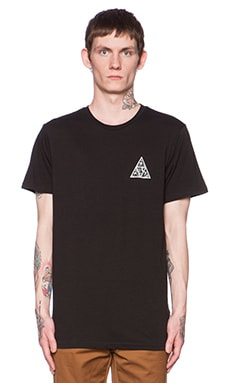 Huf Triangle Rose Tee in Black