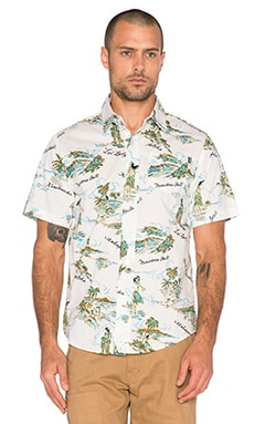 Huf Makapuu Short Sleeve Shirt in White