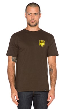 Huf Delivery Tee in Brown