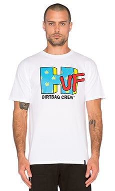 Huf Network Tee in White