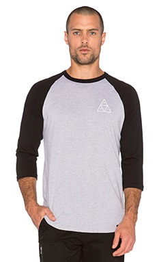 Huf Triple Triangle Raglan in Black Heather