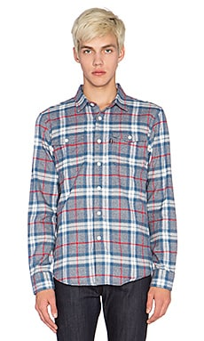 Huf Heavy Weight Flannel Button Up in Grey
