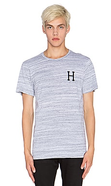 Huf Classic H Streaky Wash Tee in White