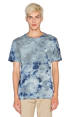Huf Crystal Wash Script Tee in Navy