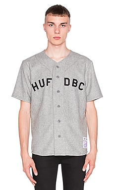 Huf Captain's Baseball Jersey in Grey Wool