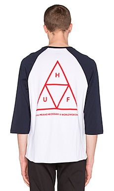 Huf Triple Triangle Raglan in Navy