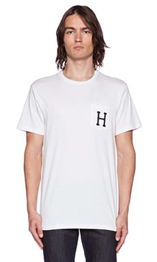 Huf Classic H Pocket Tee in White