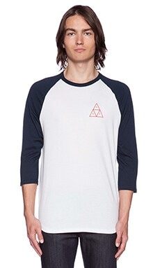 Huf Triple Triangle Raglan in White