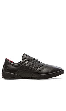 Huf Dylan Sneaker in Black Leather/Croc