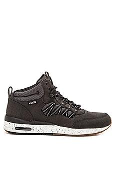 Huf HR-1 Sneaker in Black & Ballistic Nylon & 3M