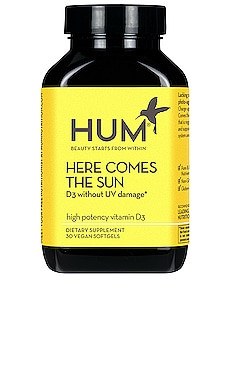 Here Comes The Sun Vitamin D Supplement HUM Nutrition $12