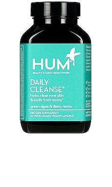 Daily Cleanse Clear Skin and Body Detox Supplement HUM Nutrition $25