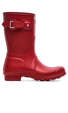 Hunter Original Short Rain Boot in Military Red