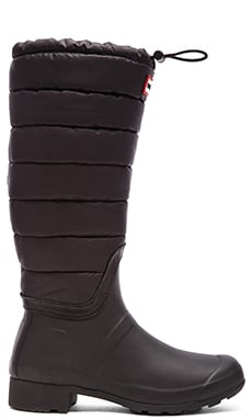 Hunter Original Quilted Leg Boot in Black