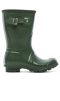 Hunter Original Short Rain Boot in Hunter Green