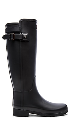 Original Refined Back Strap Rain Boot in Black