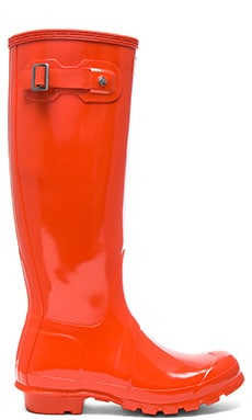 Hunter Womens Original Tall Gloss Boot in Tent Red