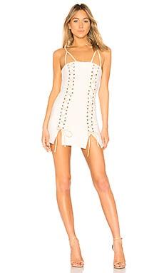 Купить Шнуровка платье blake - h:ours белого цвета