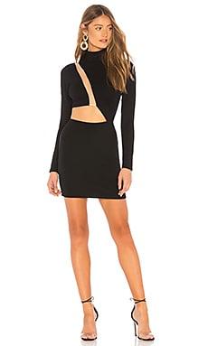 Купить Платье с длинным рукавом malena - h:ours, С вырезом, Китай, Черный