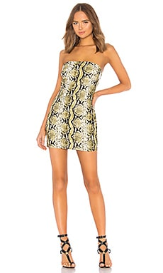 x Yovanna Ventura Mona Snake Print Tube Dress h:ours $118