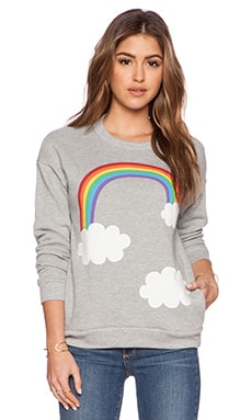 Hye Park and Lune Rainbow Sweatshirts in Heather Grey