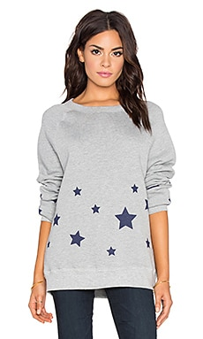 Hye Park and Lune Starry Sweatshirt in Heather Grey