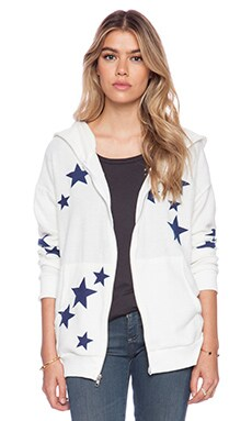 Hye Park and Lune Stella Hoodie Zip Up in White