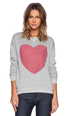 Hye Park and Lune Eros Heart Sweatshirt in Heather Grey