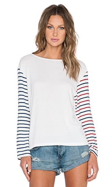 Hye Park and Lune Nicole Long Sleeve Tee in Multi Stripe