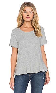 Hye Park and Lune Carmen Short Sleeve Tee in Heather Grey